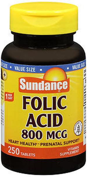 Sundance Vitamins Folic Acid 800 mcg - 250 Tablets