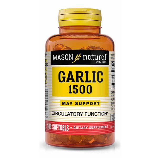 Mason Vitamins Natural Garlic Oil 1500 Softgels - 100ct