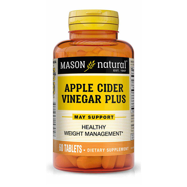 Mason Vitamins Natural BodyShapers Apple Cider Vinegar Plus Tablets - 60ct