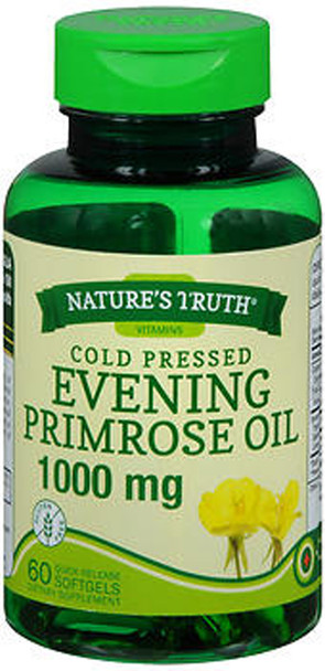 Nature's Truth Cold Pressed Evening Primrose Oil 1000 mg Quick Release Softgels - 60 ct