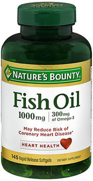 Nature's Bounty Cholesterol-Free Fish Oil 1000 mg  -135 Softgel