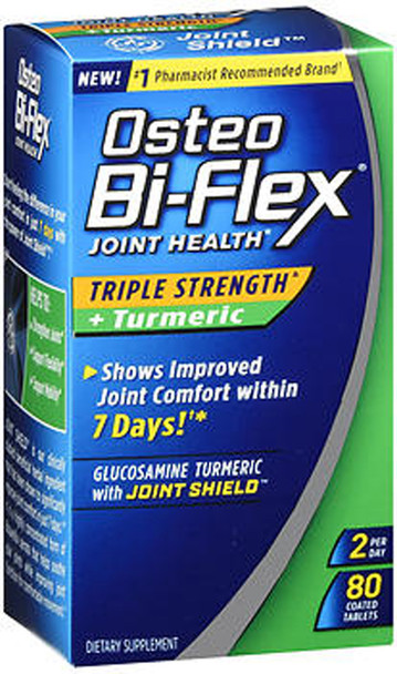 Osteo Bi-Flex Joint Health Herbal Formula With Turmeric Capsules - 80 ct
