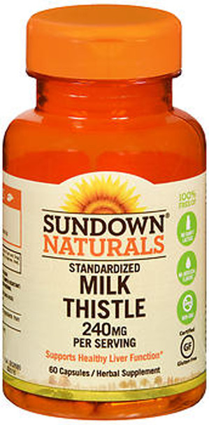 Sundown Naturals Milk Thistle 240 mg Capsules - 60 ct