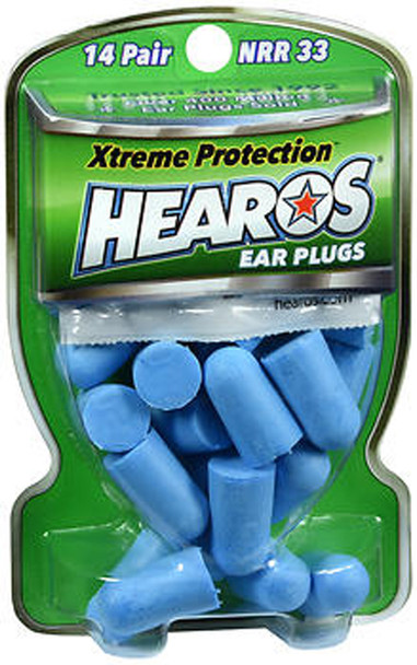 Hearos Xtreme Protection Series Ear Plugs NRR 33 - 14 Pair