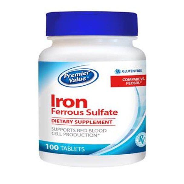 Premier Value Iron Supplement - 65mg, Tablet 100ct