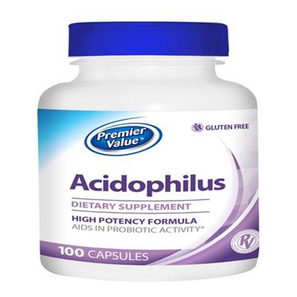 Premier Value Acidophilus Specialty Vitamin Supplement - Caplet  100ct