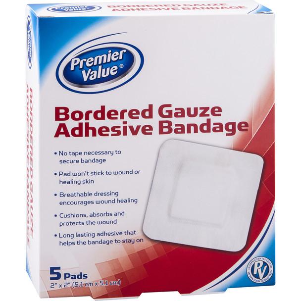 "PV Gauze Pad Border Island - 2x2"""