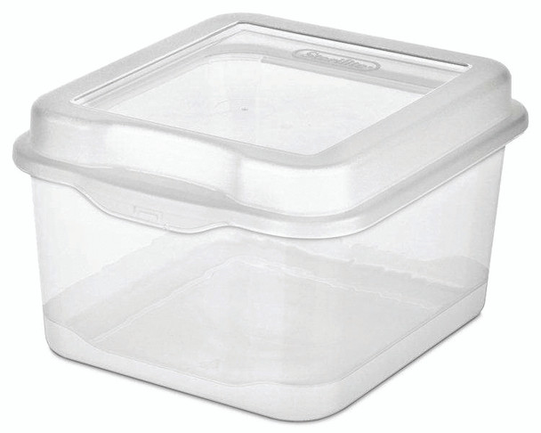 Storage Box Flip Top Tote - Clear