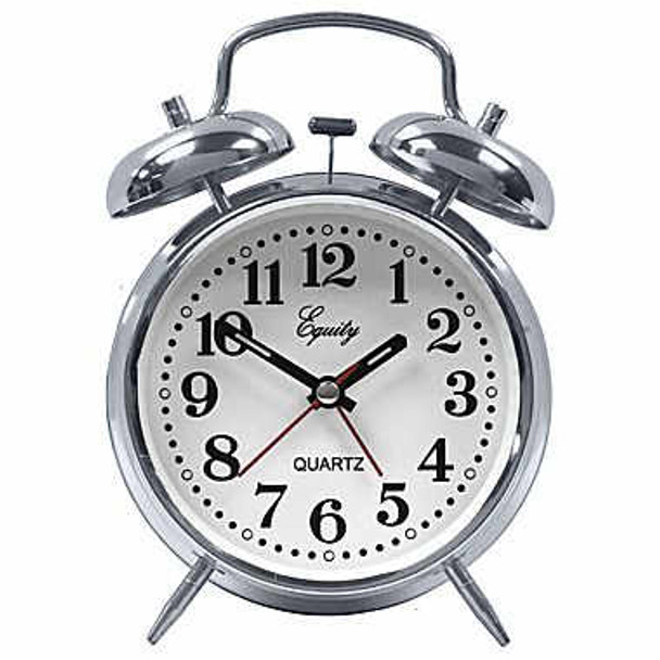 Quartz Analog Metal Twin Bell Alarm Clock