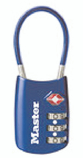 TSA Set-Your-Own Luggage Lock w/Cable