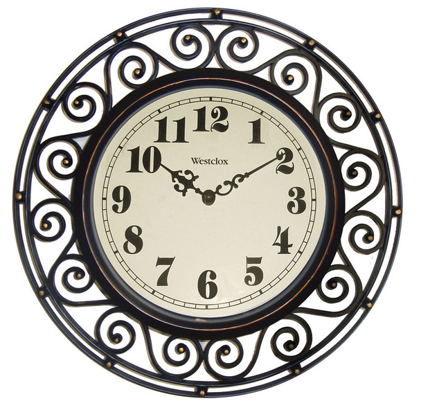 "Scroll Frame Wall Clock - 12"""