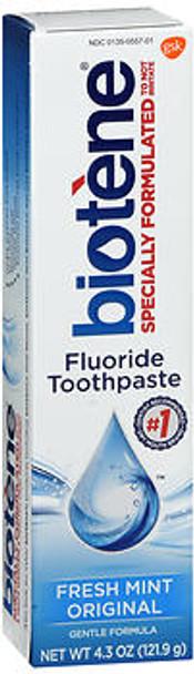 Biotene Dry Mouth Toothpaste Fresh Mint Original - 4.3 oz