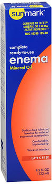 Sunmark Complete Ready-to-Use Enema Mineral Oil, 4.5 oz - 1 ct