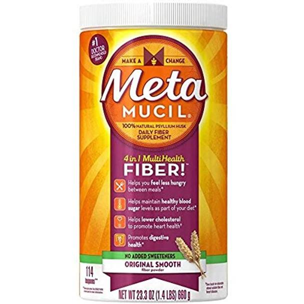Metamucil Smooth Texture Sugar-Free Unflavored - 23.3 oz