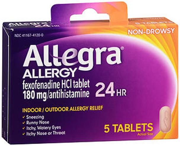 Allegra 24-Hour Allergy Relief - 5 Tablets