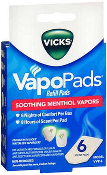 Vicks VapoPads Soothing Menthol Vapors, Refill (VVP-6) - 6 ct