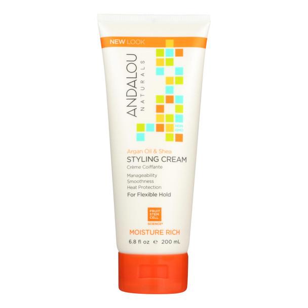 Andalou Naturals Argan Oil And Shea Styling Cream - 6.8 Fl Oz