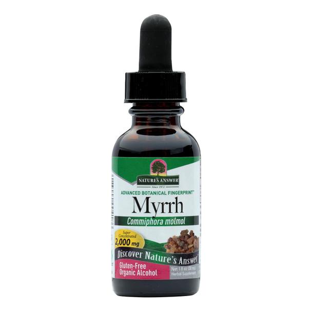 Nature's Answer Myrrh Oleo-gum-resin - 1 Fl Oz