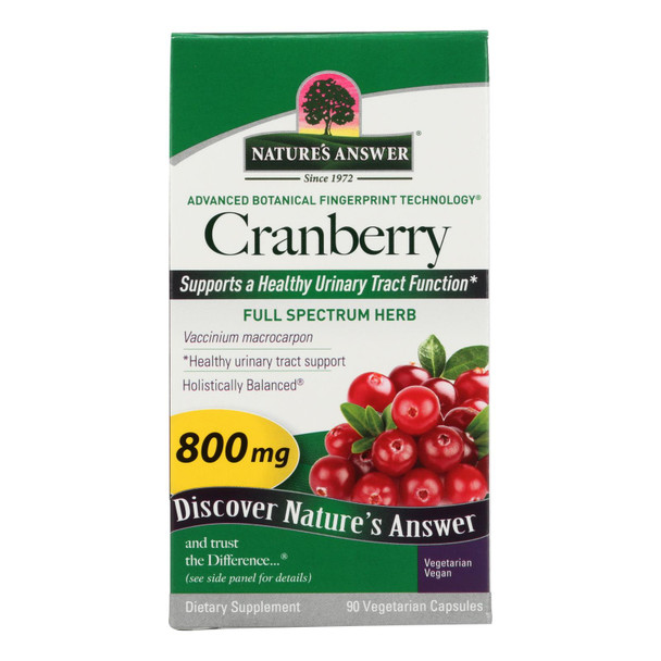 Nature's Answer Cranberry Fruit - 90 Vegetarian Capsules