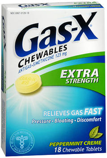 Gas-X Chewable Tablets Extra Strength Peppermint Creme - 18 ct