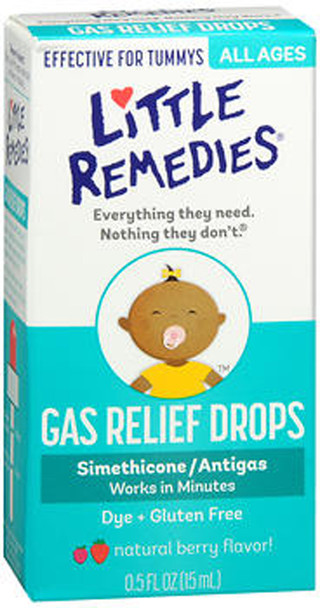 Little Tummy's Gas Relief Drops Natural Berry - .5 oz