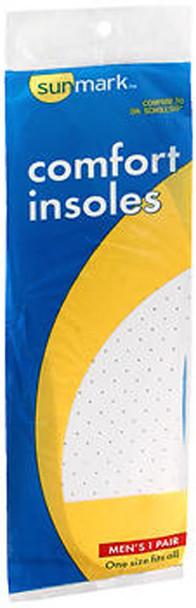 Sunmark Comfort Insoles Men's One Size - Pair