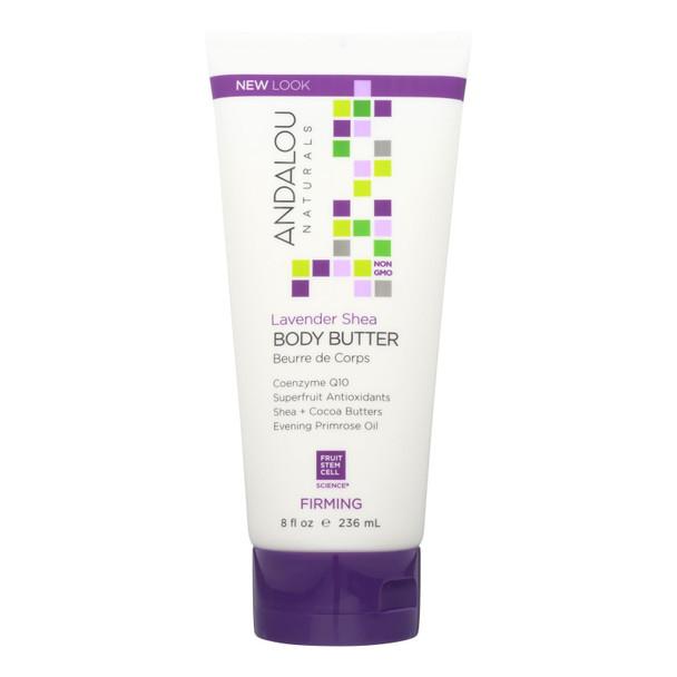 Andalou Naturals Firming Body Butter Lavender Shea - 8 Fl Oz