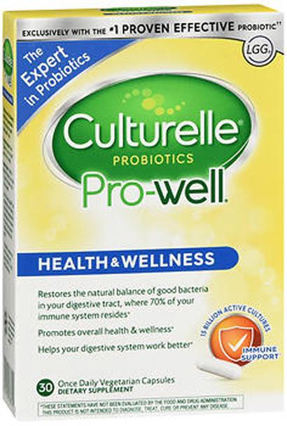 Culturelle Health & Wellness Probiotic Capsules - 30 caplets