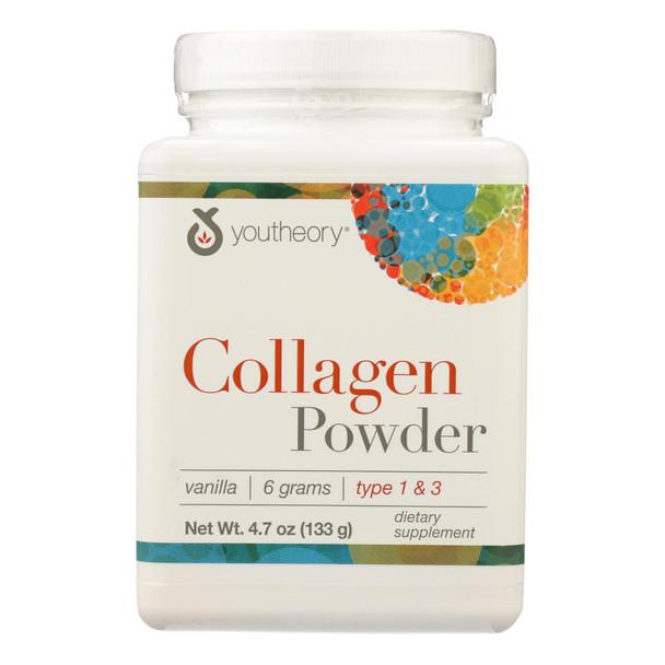 Youtheory Collagen - Powder - Vanilla - 4.7 Oz