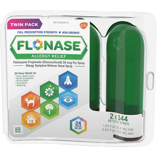 Flonase Allergy Relief Spray Twin Pack - 1.86 oz