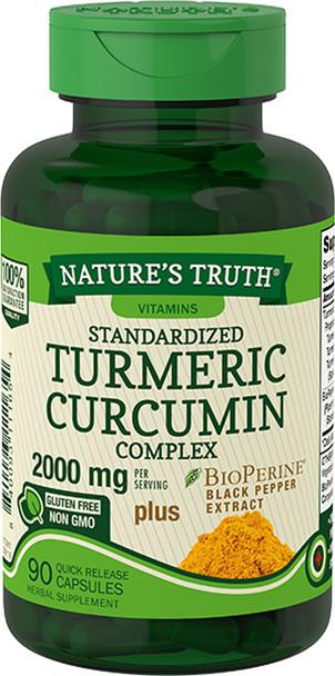 Nature's Truth Standardized Turmeric Curcumin Complex 2000 mg per Serving Capsules - 90 ct
