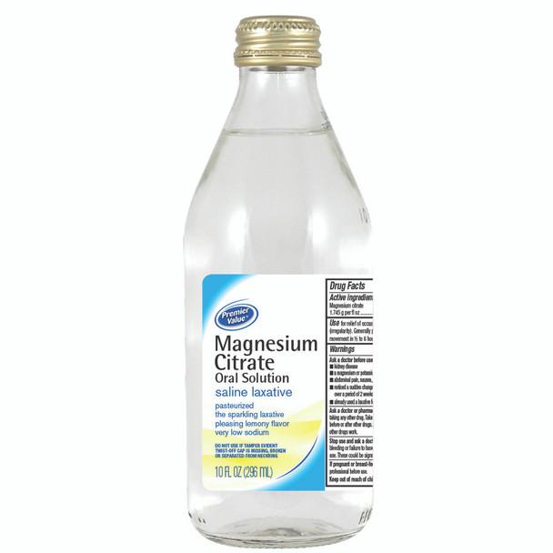 Premier Value Magnesium Citrate Lemon, 10oz