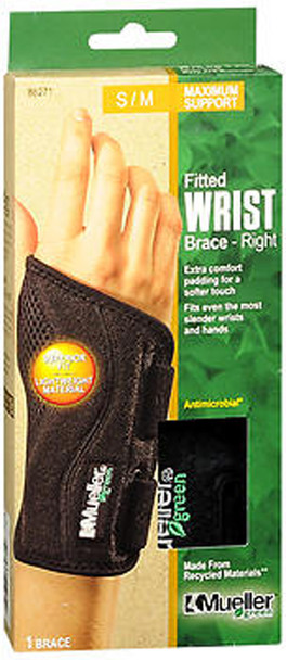 Mueller Green Fitted Wrist Brace SM/MD Right