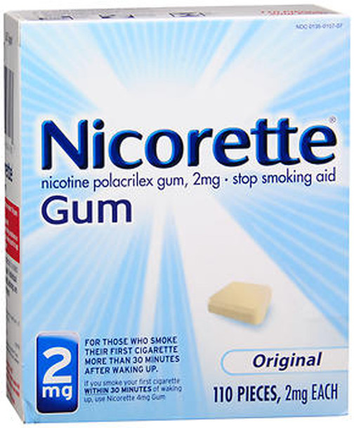 Nicorette Stop Smoking Aid 2mg Gum Original - 110 ct