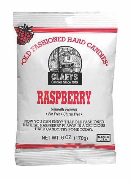 Claeys Rasberry Candies 6 Ounce Bag