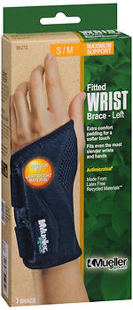 Mueller Green Fitted Wrist Brace-Left S/M 86272