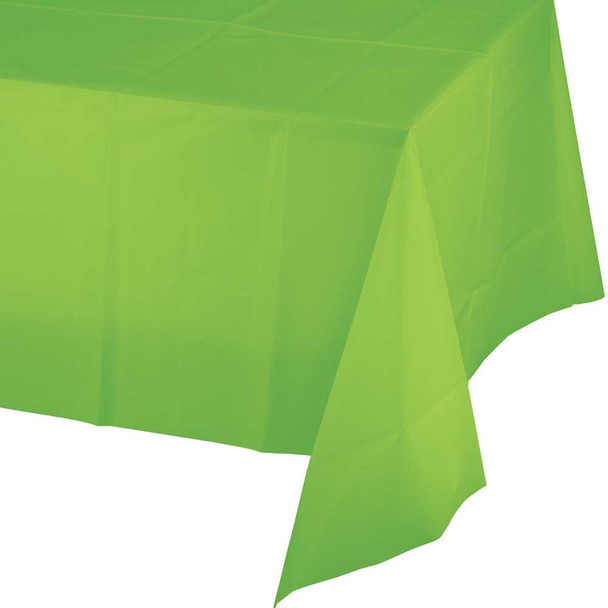 Plastic Tablecover, Fresh Lime, 54x108""