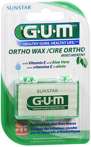 G-U-M Ortho Wax, Mint - each