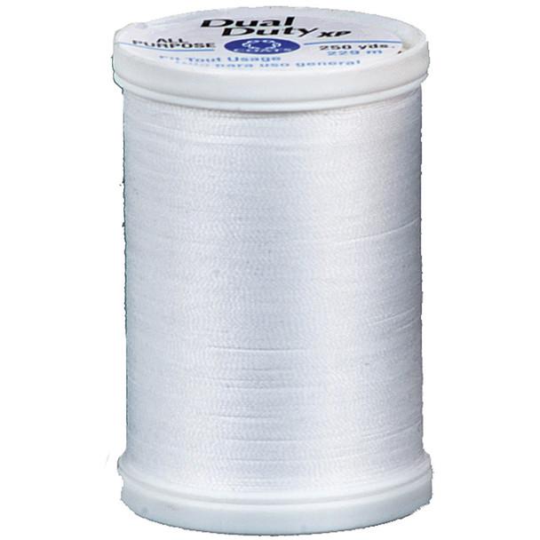 Dual Duty Xp General Purpose Thread, White, 250 Yds. - 3 Pkgs