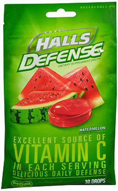 Halls Defense Vitamin C Drops Watermelon - 30 ct