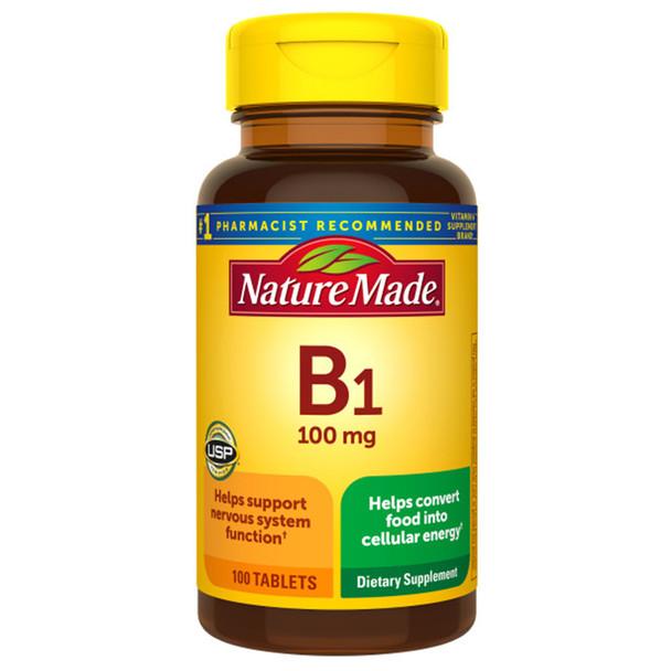 Nature Made Vitamin B-1 100 mg Tablets - 100 ct