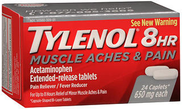Tylenol 8HR Muscle Aches & Pain Caplets - 24 ct
