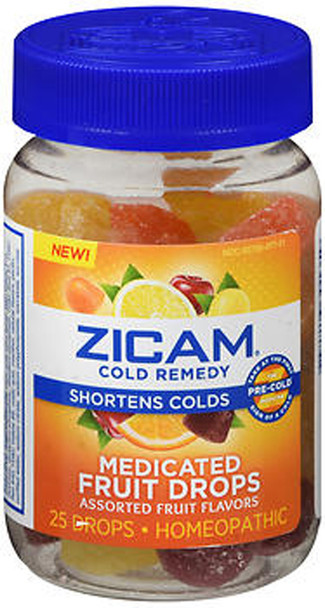 Zicam Cold Remedy Medicated Fruit Drops - 25 ct