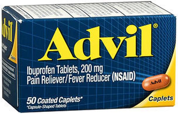 Advil Ibuprofen Pain Reliever/Fever Reducer Caplets - 50 ct