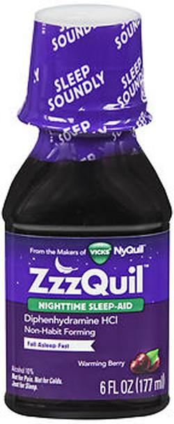 ZzzQuil Nighttime Sleep Aid - Liquid - 6 oz