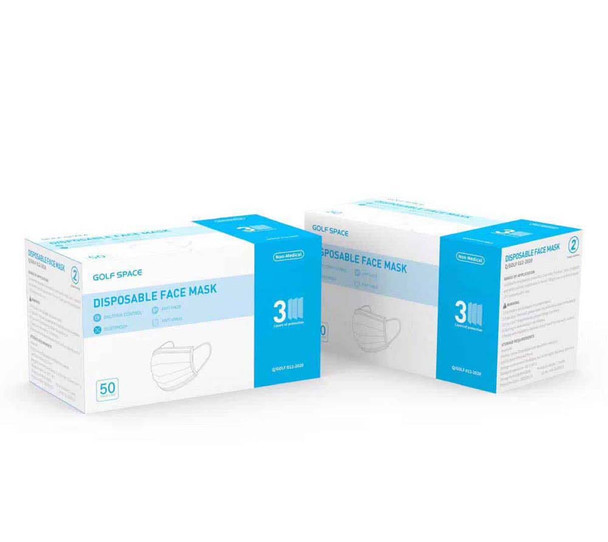 Golf Space N8 Non-medical Disposable Face Mask - 50 ct