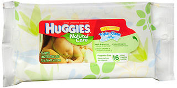 Huggies Natural Care Wipes - 16 wipes
