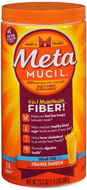 Metamucil 4 in 1 MultiHealth Fiber Powder Orange Smooth Sugar Free - 23.3 oz