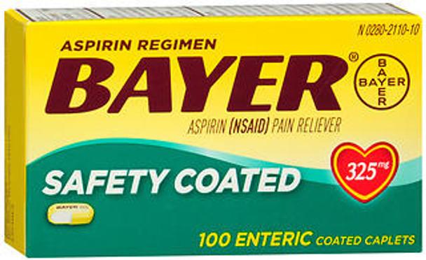 Bayer Safety Coated Aspirin 325 mg -100 Caplets