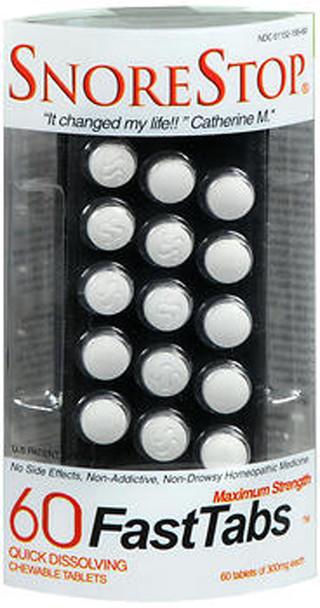 SnoreStop FastTabs Chewable Tablets Maximum Strength - 60 ct